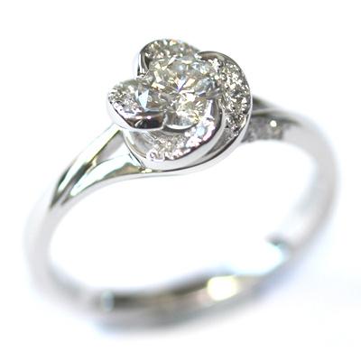 18ct White Gold Diamond Rose Engagement Ring 3.jpg