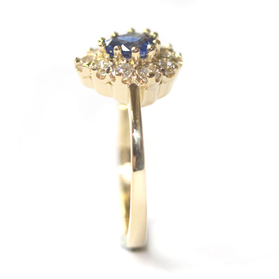 18ct Yellow Gold Heart Shape Sapphire and Diamond Engagement Ring 6.jpg