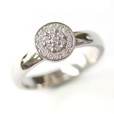 Platinum Round Brilliant Cut Diamonds Cluster Engagement Ring 1.jpg