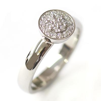 Platinum Round Brilliant Cut Diamonds Cluster Engagement Ring 2.jpg