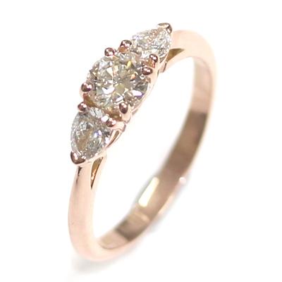 14ct Rose Gold Diamond Trilogy Engagement Ring 3.jpg