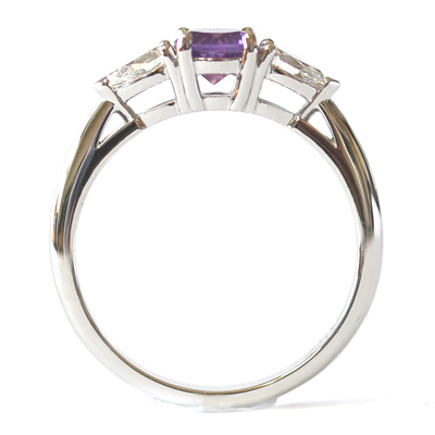 Platinum Amethyst and Diamond Trilogy Engagement Ring 1.jpg