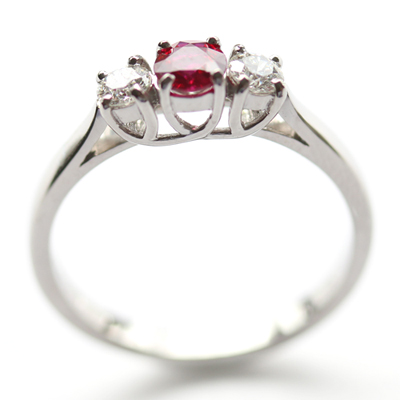 Palladium Ruby and Diamond Trilogy Engagement Ring (sustainably sourced diamond) 3.jpg