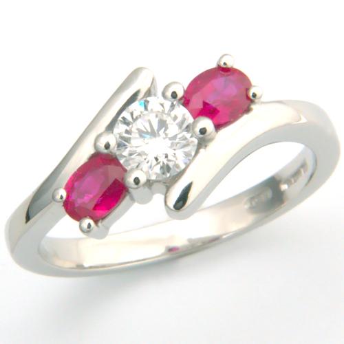 Platinum Diamond and Ruby Trilogy Engagement Ring.jpg