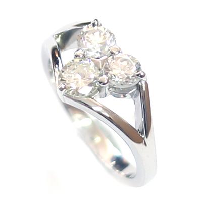Platinum Triangle Trilogy Diamond Engagement Ring 2.jpg