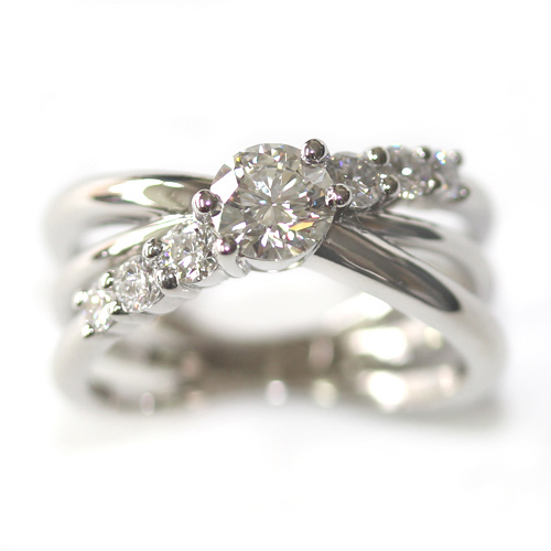 Platinum Three in One Engagement, Wedding and Eternity Ring.jpg