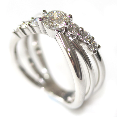 Platinum Three in One Engagement, Wedding and Eternity Ring 5.jpg