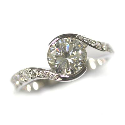 Platinum Twist Engagement Ring using the Customers Diamonds 3.jpg