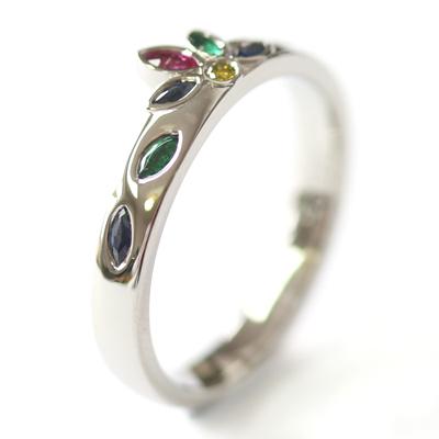 Platinum Emerald, Sapphire and Diamond Engagement Ring 5.jpg