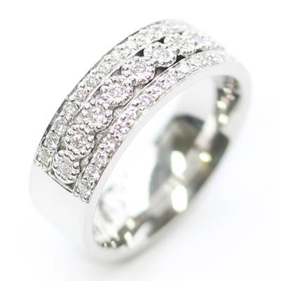 Platinum Wedding Ring with Three Rows of Diamonds 1 - Copy.jpg