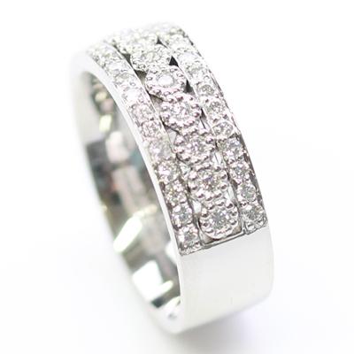 Platinum Wedding Ring with Three Rows of Diamonds 2.jpg