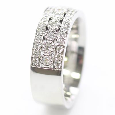 Platinum Wedding Ring with Three Rows of Diamonds 4.jpg