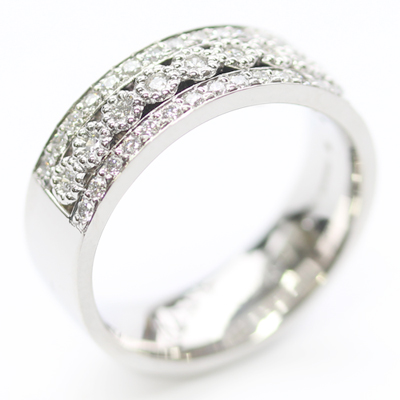 Platinum Wedding Ring with Three Rows of Diamonds 6.jpg