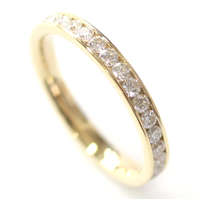 18ct Yellow Gold 30 Diamond Set Wedding Ring 3.jpg