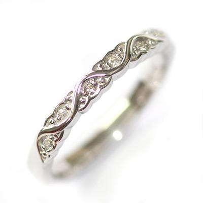 White Gold Diamond Set Wave Wedding Ring with a Scalloped Edge 5.jpg