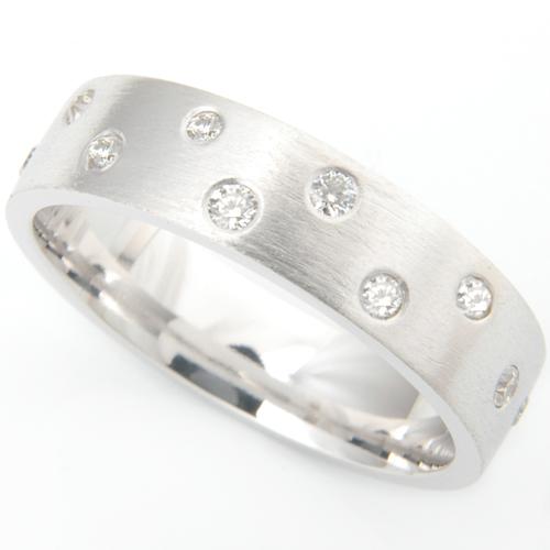 18ct White Gold Diamond Set and Brushed Finish Wedding Ring.jpg