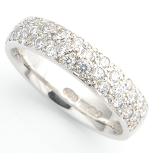 Platinum Half Pave Set Diamond Wedding Ring.jpg