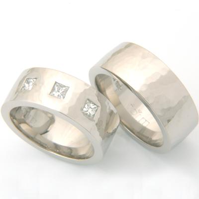 Palladium Hammered Effect Wedding Ring Set 1.jpg