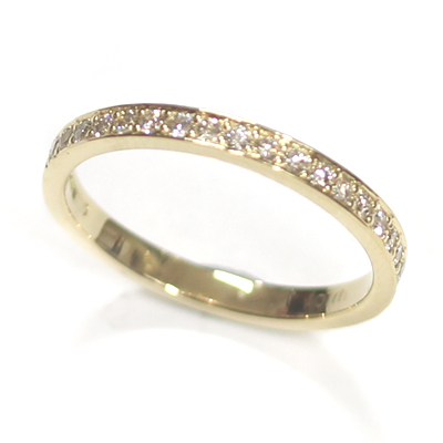 18ct Yellow Gold Diamond Set Wedding Band 3.jpg