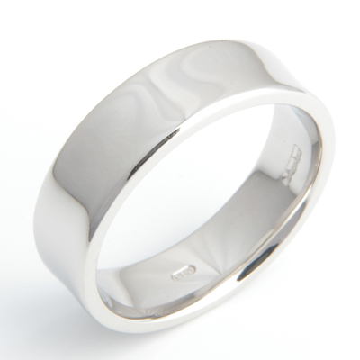 Platinum Gents Concave Wedding Ring 2.jpg