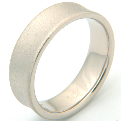 18ct White Gold Concave Satin Finish Wedding Ring 3.jpg