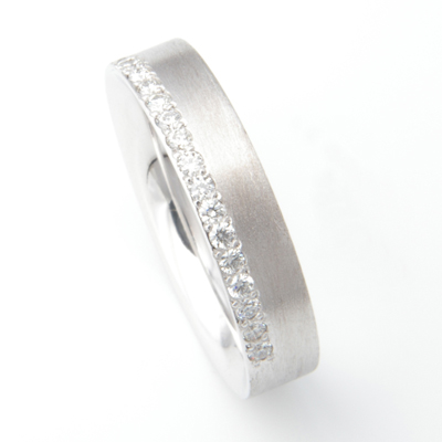 Platinum Brush Finish Matching Wedding Rings 2.jpg