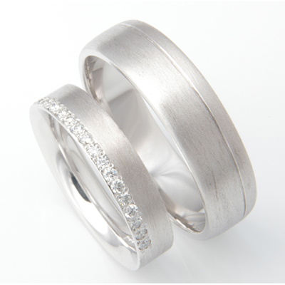 Platinum Brush Finish Matching Wedding Rings 3.jpg