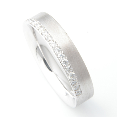 Platinum Brush Finish Matching Wedding Rings.jpg