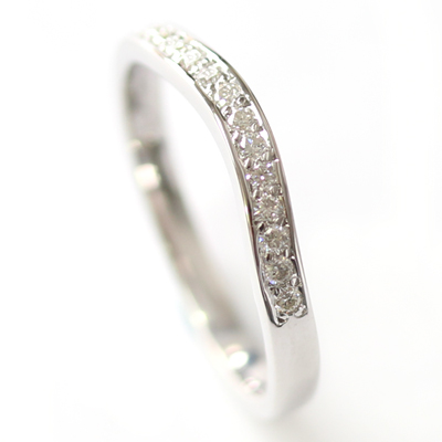 9ct White Gold Diamond Set Fitted Wedding Ring 1.jpg