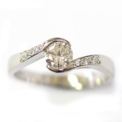 Platinum Diamond Set Fitted Wedding Ring for a Diamond Wave Engagement Ring 5.jpg