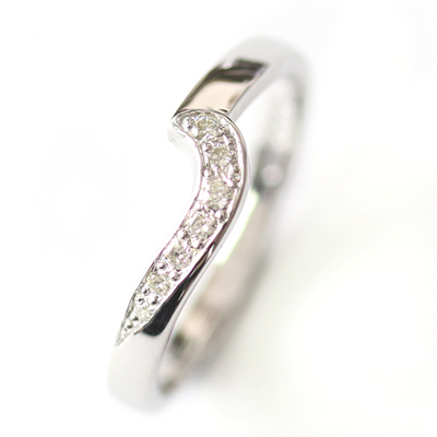 9ct White Gold Diamond Fitted Wedding Ring 1.jpg