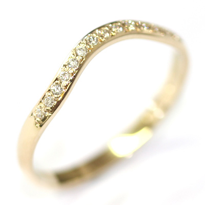 14ct Yellow Gold Diamond Set Fitted Wedding Ring 3.jpg