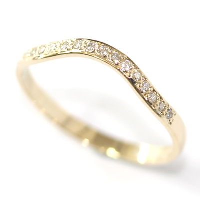 14ct Yellow Gold Diamond Set Fitted Wedding Ring 1.jpg