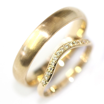 Yellow Gold Diamond Fitted Wedding Ring and Gents Wedding Ring Set 1.jpg