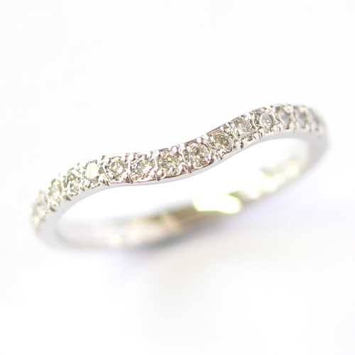 Platinum Double Diamond Set Fitted Wedding Ring Set.jpg