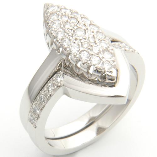 Platinum Diamond Set Fitted Wedding Ring to Pave Engagement Ring.jpg