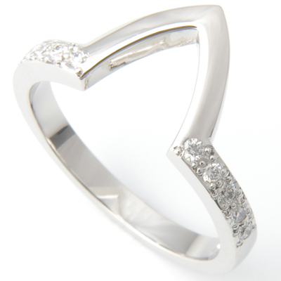 Platinum Diamond Set Fitted Wedding Ring to Pave Engagement Ring 3.jpg