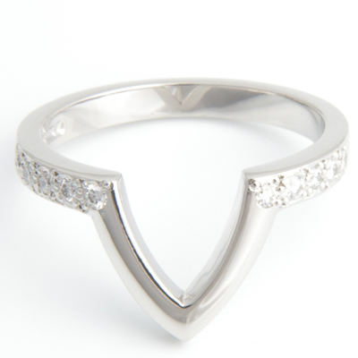 Platinum Diamond Set Fitted Wedding Ring to Pave Engagement Ring 2.jpg