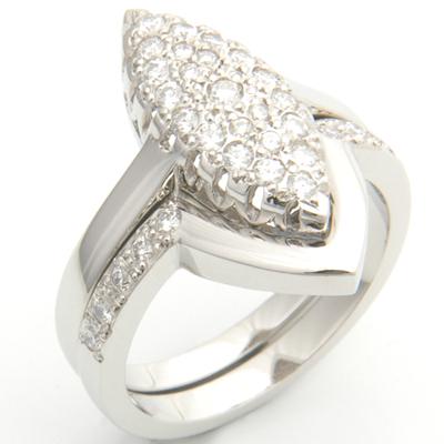 Platinum Diamond Set Fitted Wedding Ring to Pave Engagement Ring 6.jpg