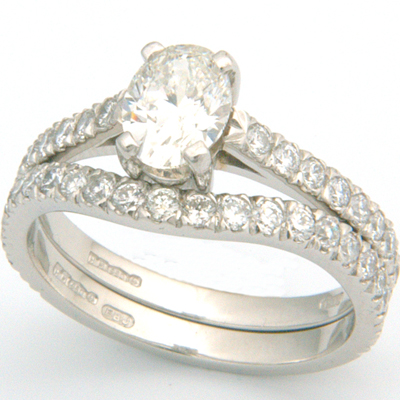 Platinum Two Thirds Diamond Set Fitted Wedding Ring 1.jpg