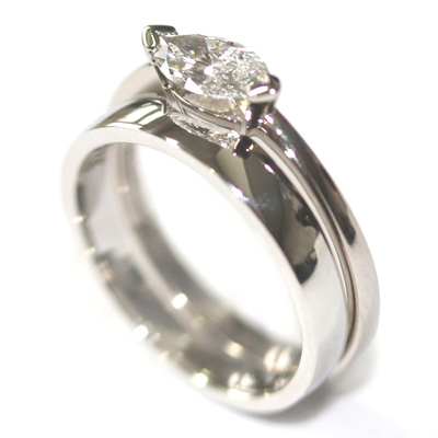 Platinum Fitted Wedding for a Solitaire Marquise Engagement Ring 1.jpg