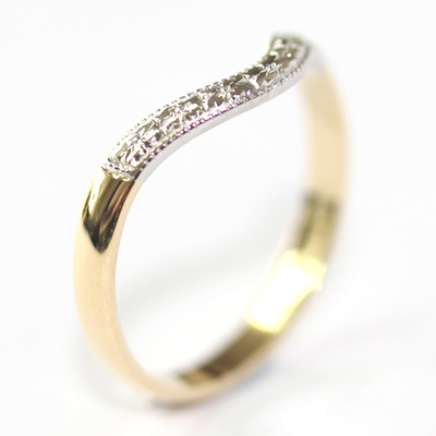 Yellow and White Gold Engraved Fitted Wedding Ring 6.jpg