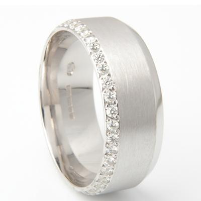 Gents Convex Diamond Set Wedding Ring 2.jpg