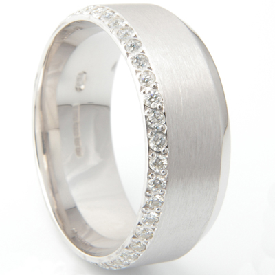 Gents Convex Diamond Set Wedding Ring 3.jpg
