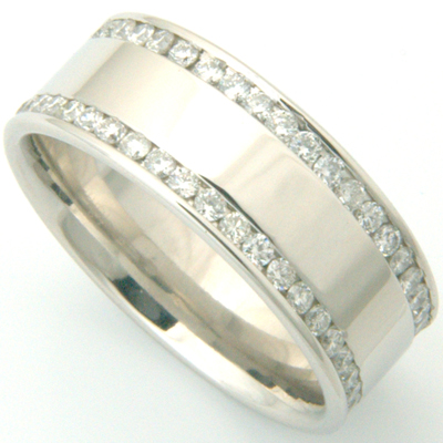 Gents Double Row Channel Set Diamond Wedding Ring 2.jpg