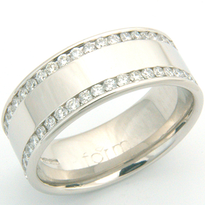 Gents Double Row Channel Set Diamond Wedding Ring 1.jpg