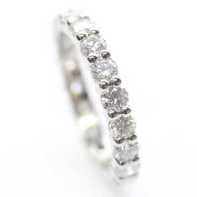 Platinum Fully Diamond Set Eternity Ring with Round Brilliant Cut Diamonds 1.jpg