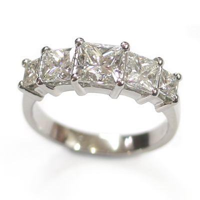 Five Stone Princess Cut Diamond Eternity Ring 1.jpg