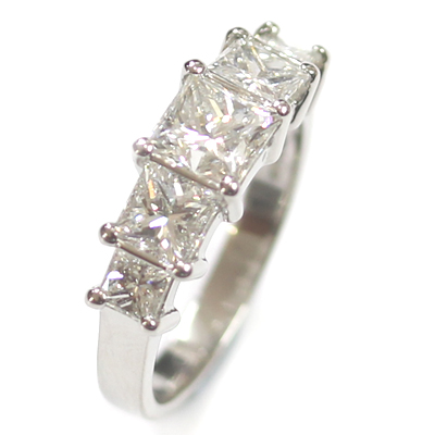 Five Stone Princess Cut Diamond Eternity Ring 3.jpg