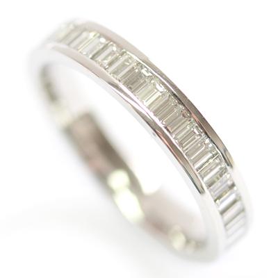Platinum Baguette Cut Diamond Eternity Ring 1.jpg